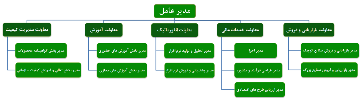 چارت سازمانی شرکت کارایان نیک فکر